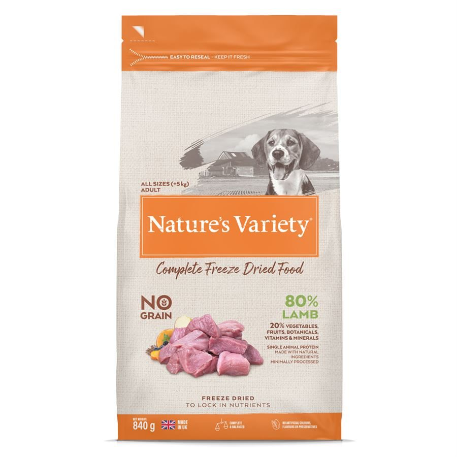 Natures Variety Dog Adult Freeze Dried  Pure Whole Food Lamb