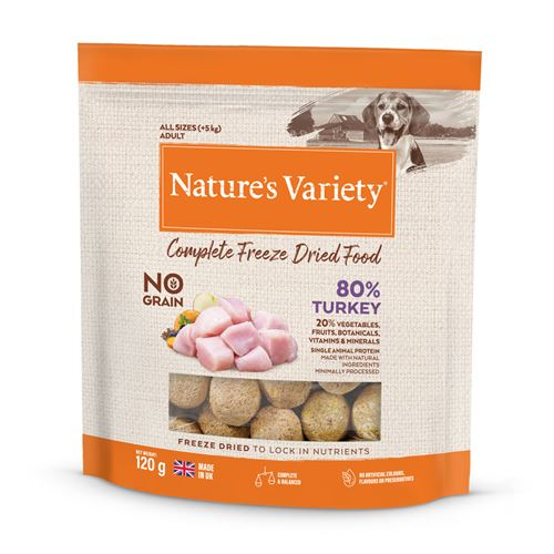 Natures Variety Dog Adult Freeze Dried  Pure Whole Food Turkey