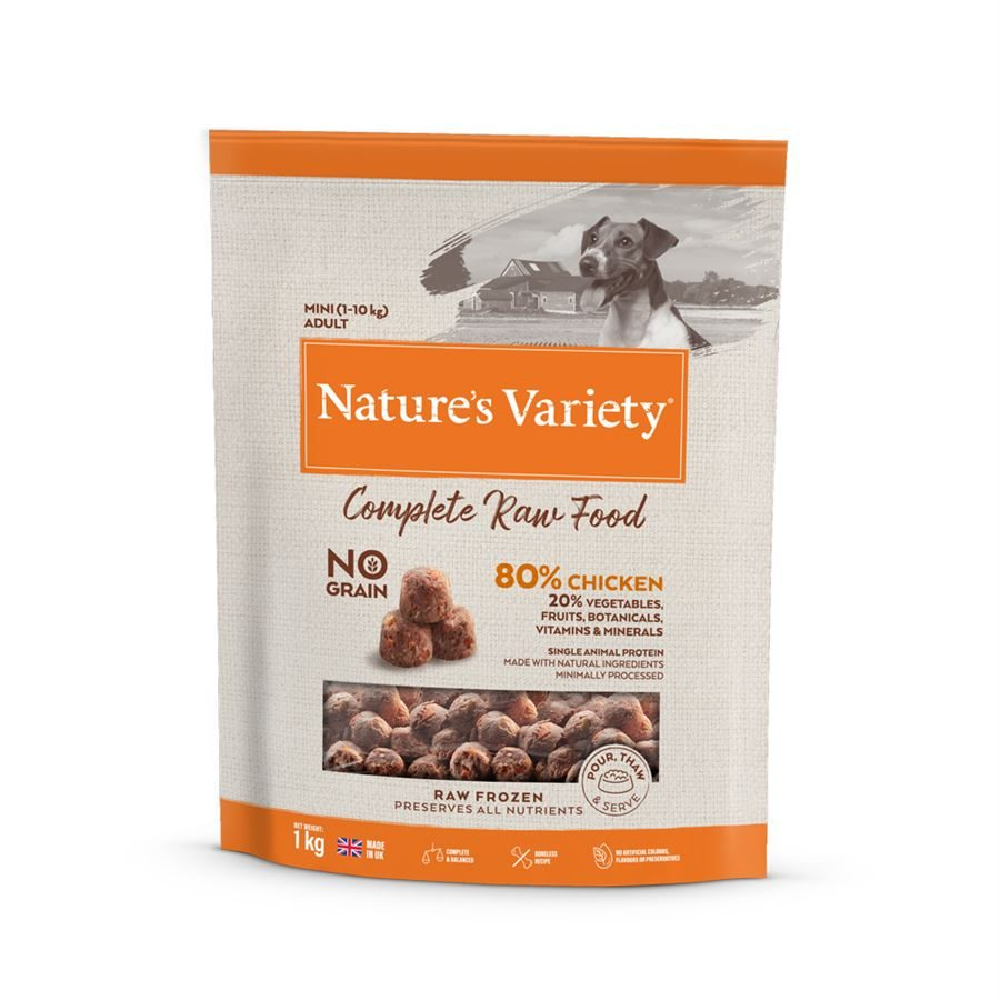 Natures Variety Frozen Dog Mini Adult Pure Raw Chicken