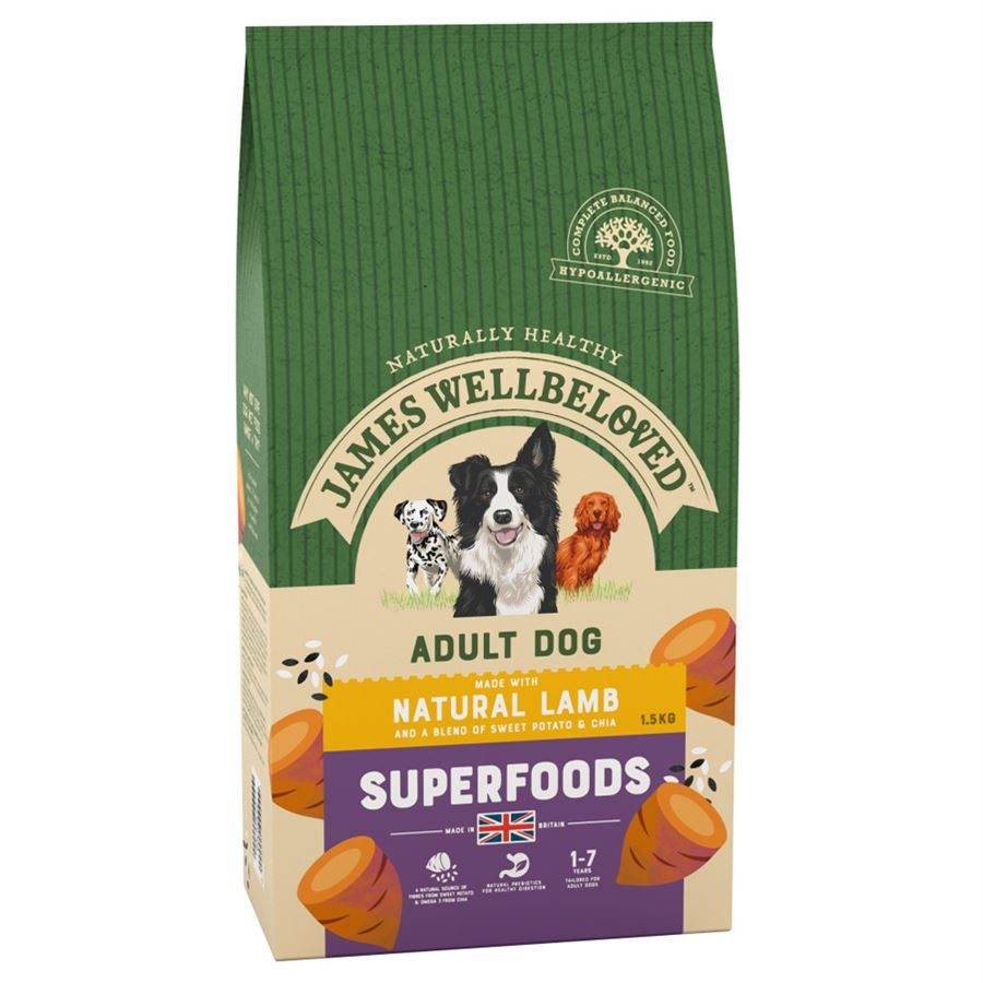James Wellbeloved Superfoods Adult Lamb with Sweet Potato & Chia