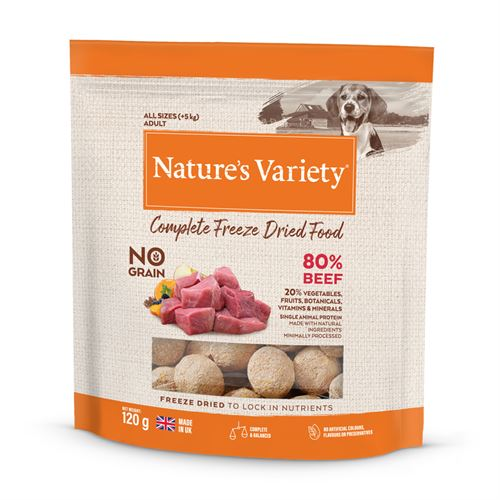 Natures Variety Dog Adult Freeze Dried  Pure Whole Food Beef