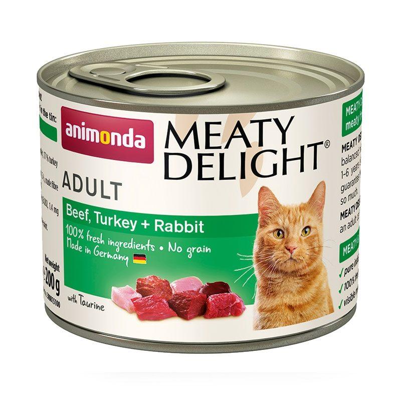 Animonda Adult Meaty Delight Tin Beef, Turkey & Rabbit