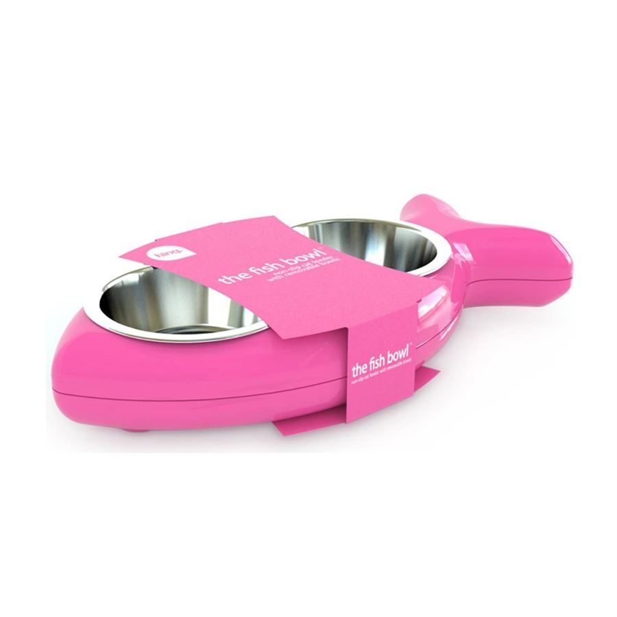 Hing The Fish Bowl Cat Pink/Cayenne - Small