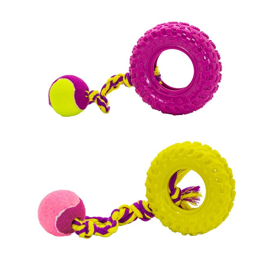 TUFFS x Dog Life Fling and Chew Tyre Large